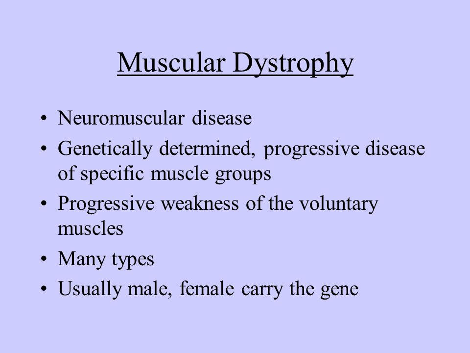 Muscular Dystrophy Neuromuscular disease