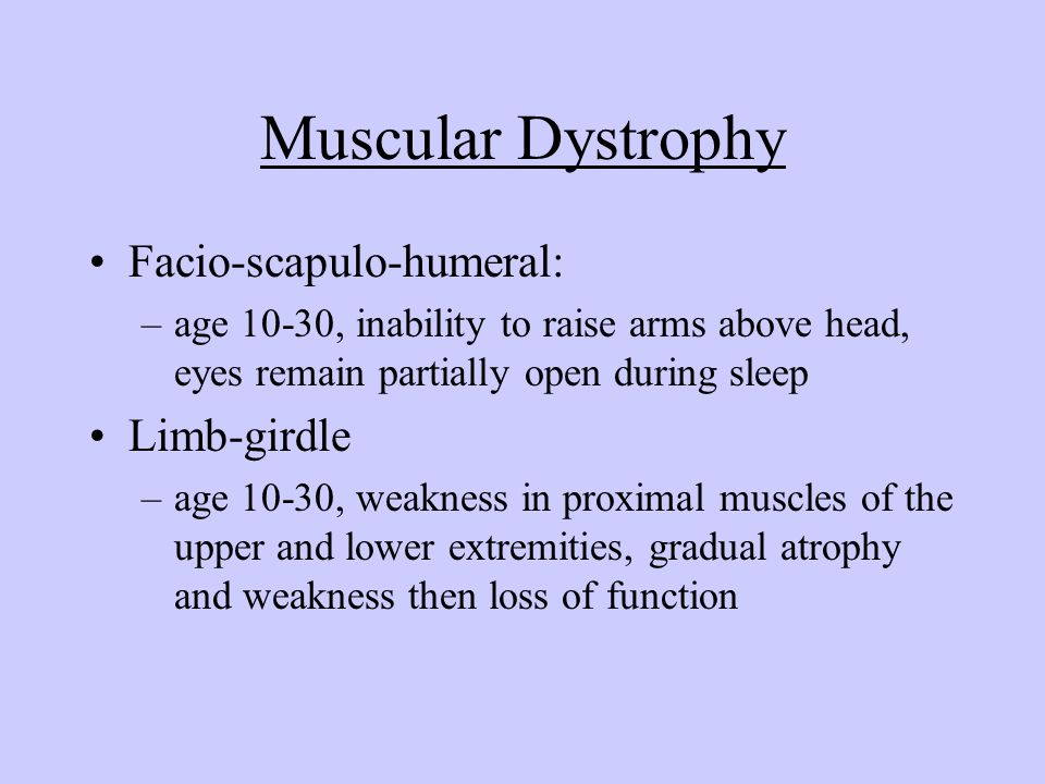 Muscular Dystrophy Facio-scapulo-humeral: Limb-girdle