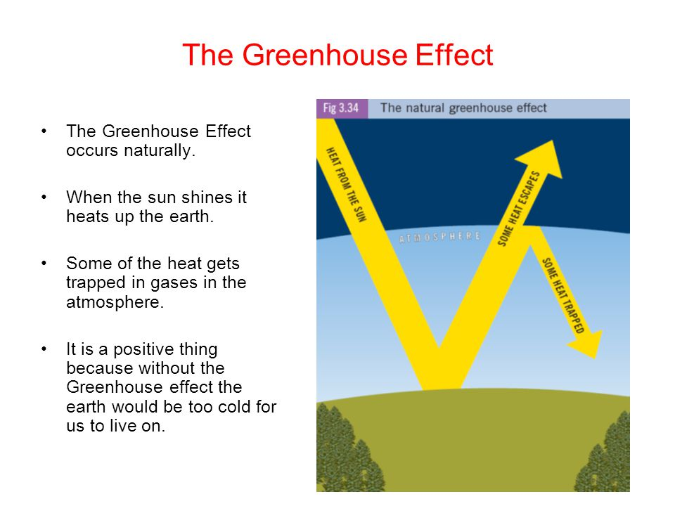The Greenhouse Effect The Greenhouse Effect occurs naturally.