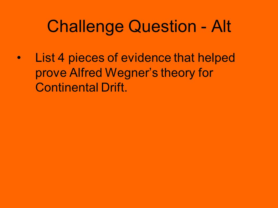 Challenge Question - Alt