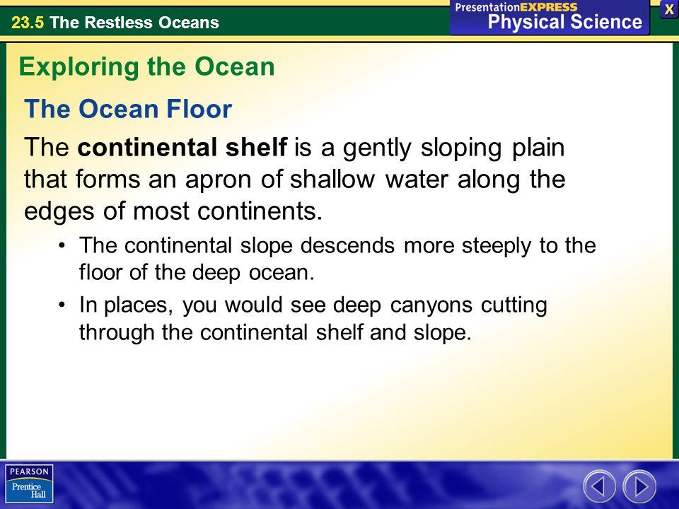 Exploring the Ocean The Ocean Floor