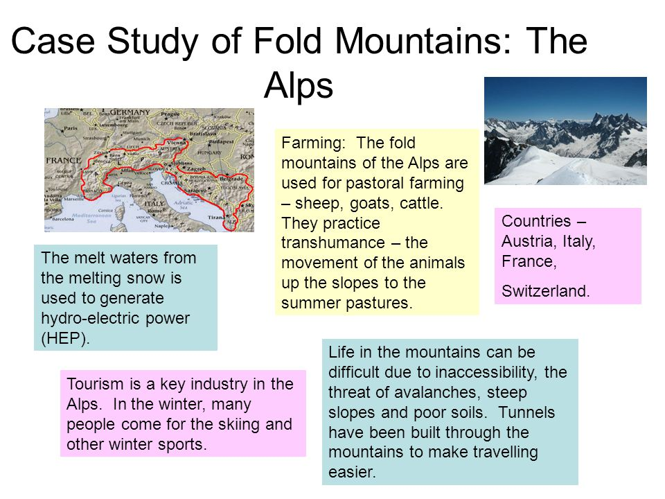 Case Study of Fold Mountains: The Alps
