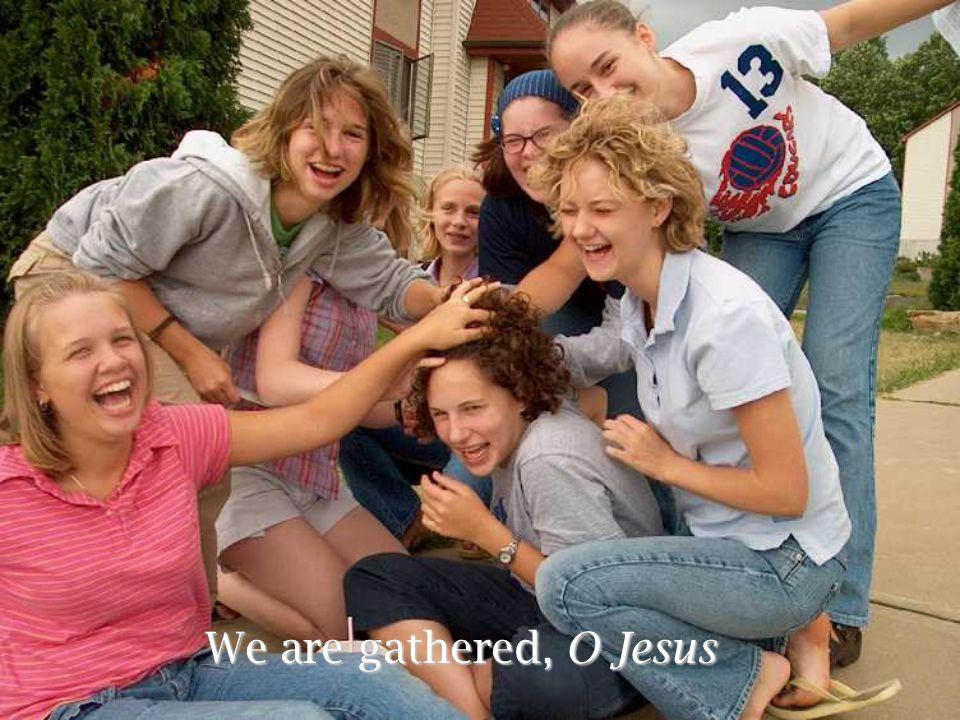 We are gathered, O Jesus