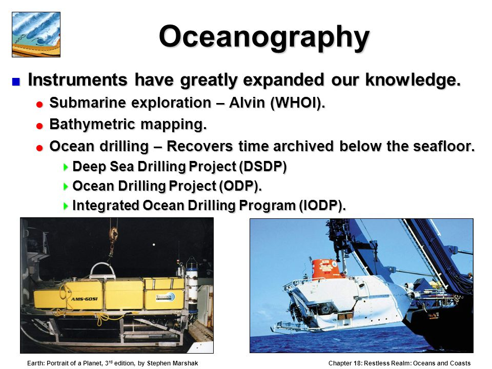 Oceanography Instruments have greatly expanded our knowledge.