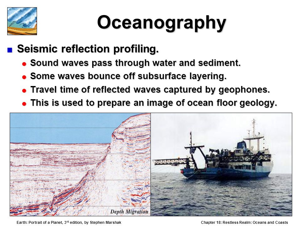 Oceanography Seismic reflection profiling.