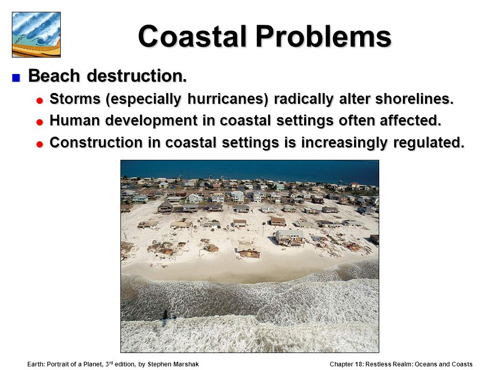 Coastal Problems Beach destruction.