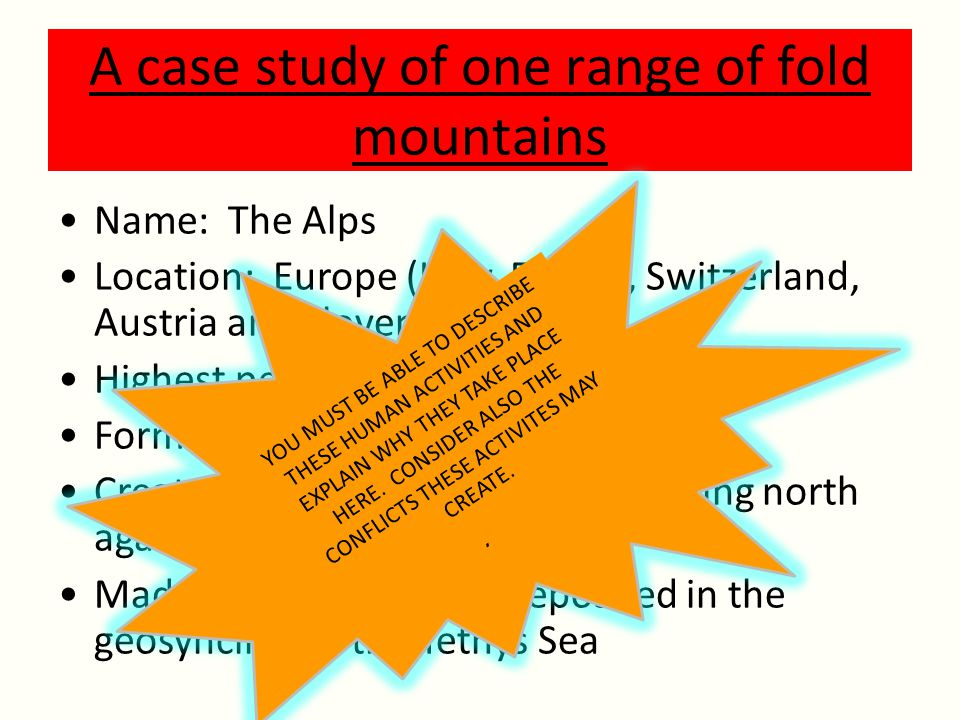 A case study of one range of fold mountains