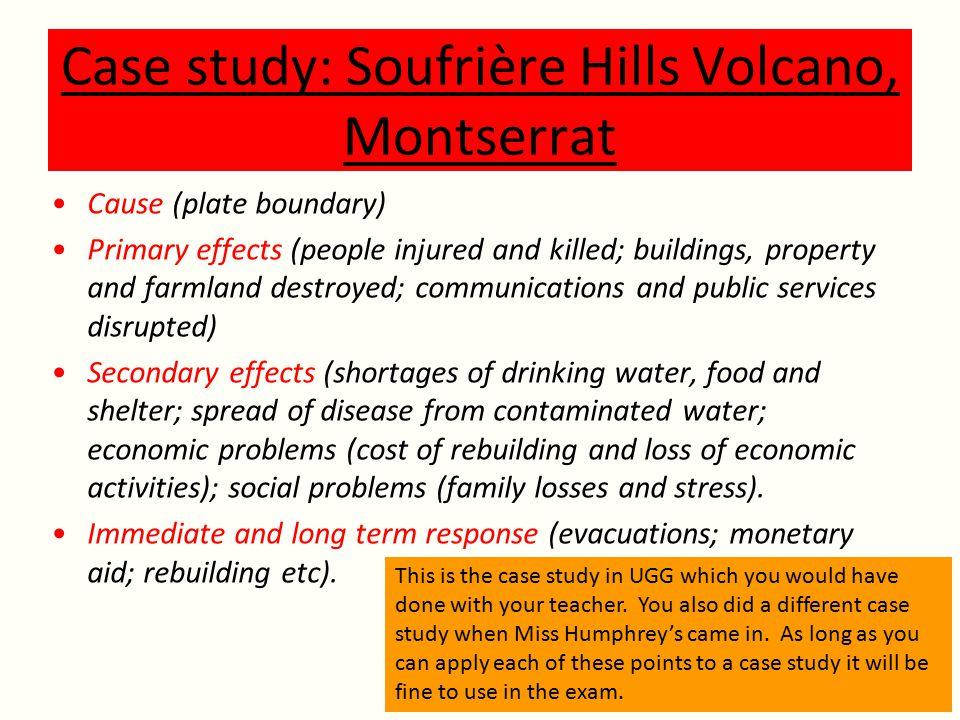 Case study: Soufrière Hills Volcano, Montserrat