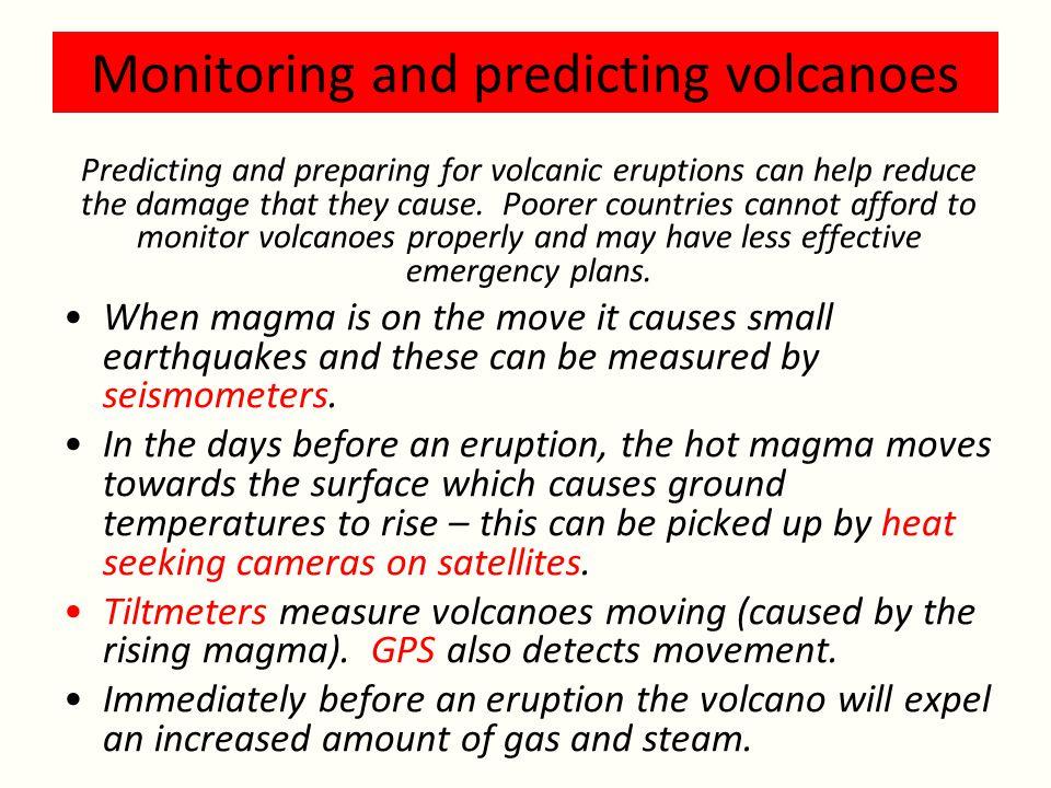 Monitoring and predicting volcanoes
