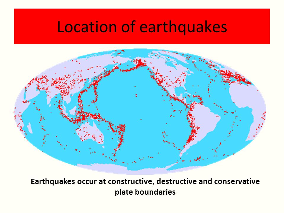 Location of earthquakes