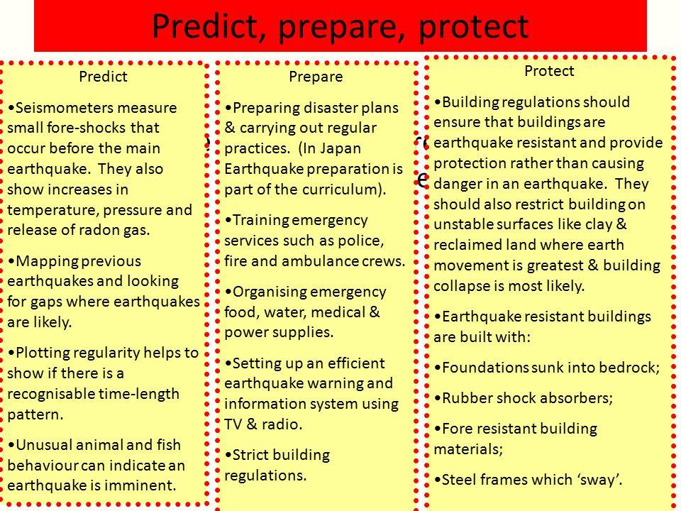 Predict, prepare, protect
