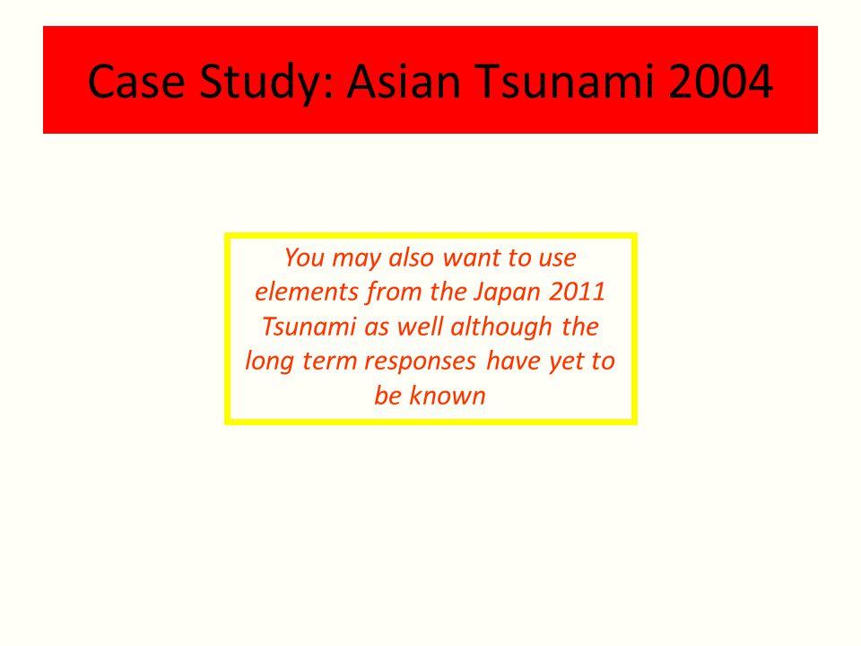 Case Study: Asian Tsunami 2004