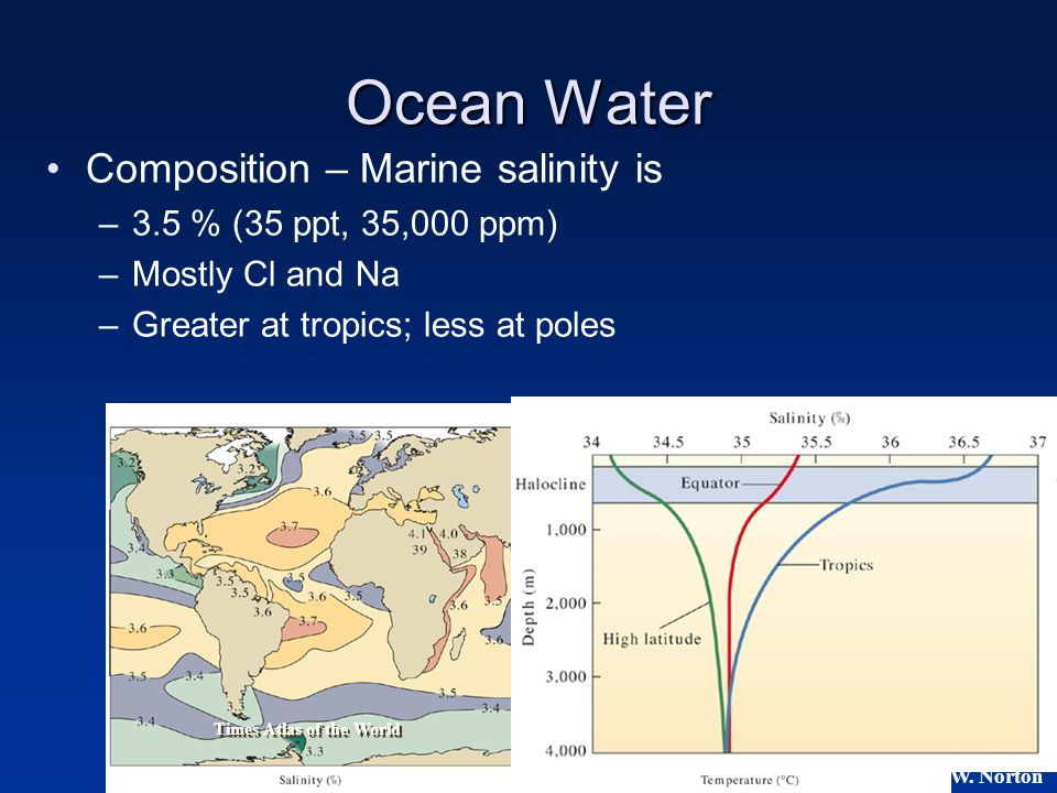 Ocean Water Composition – Marine salinity is