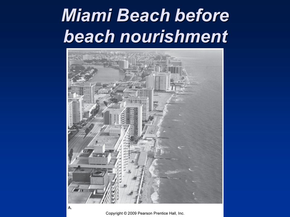 Miami Beach before beach nourishment