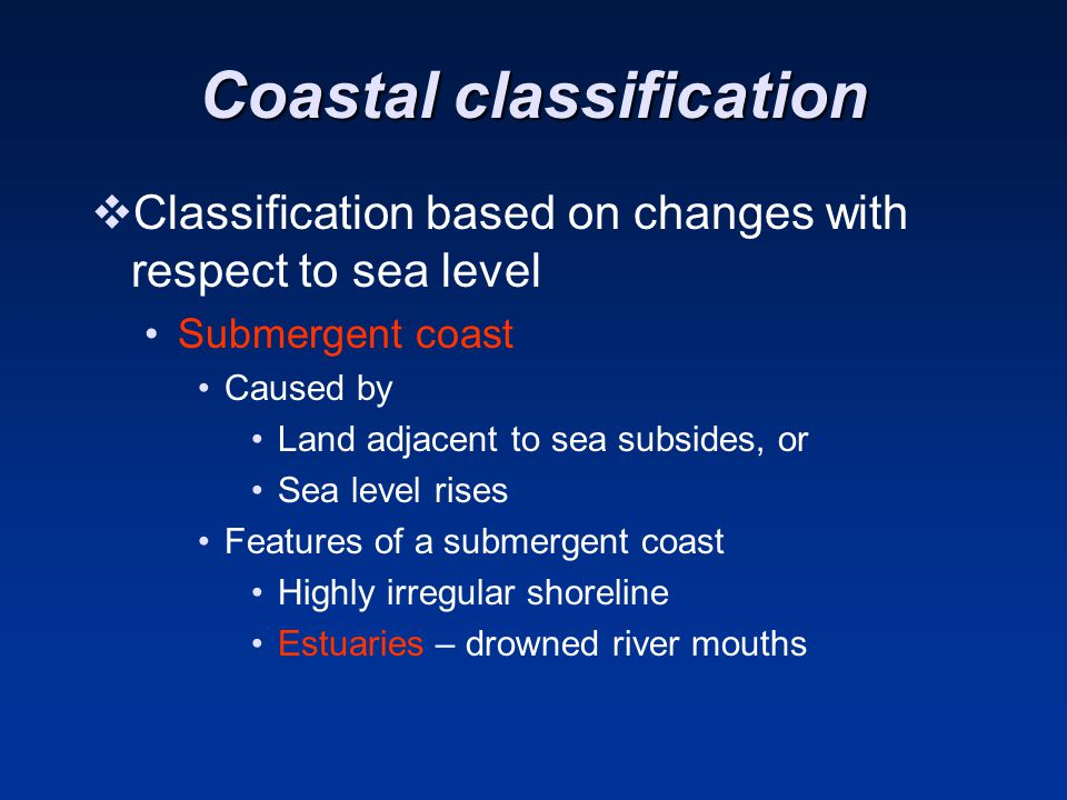Coastal classification
