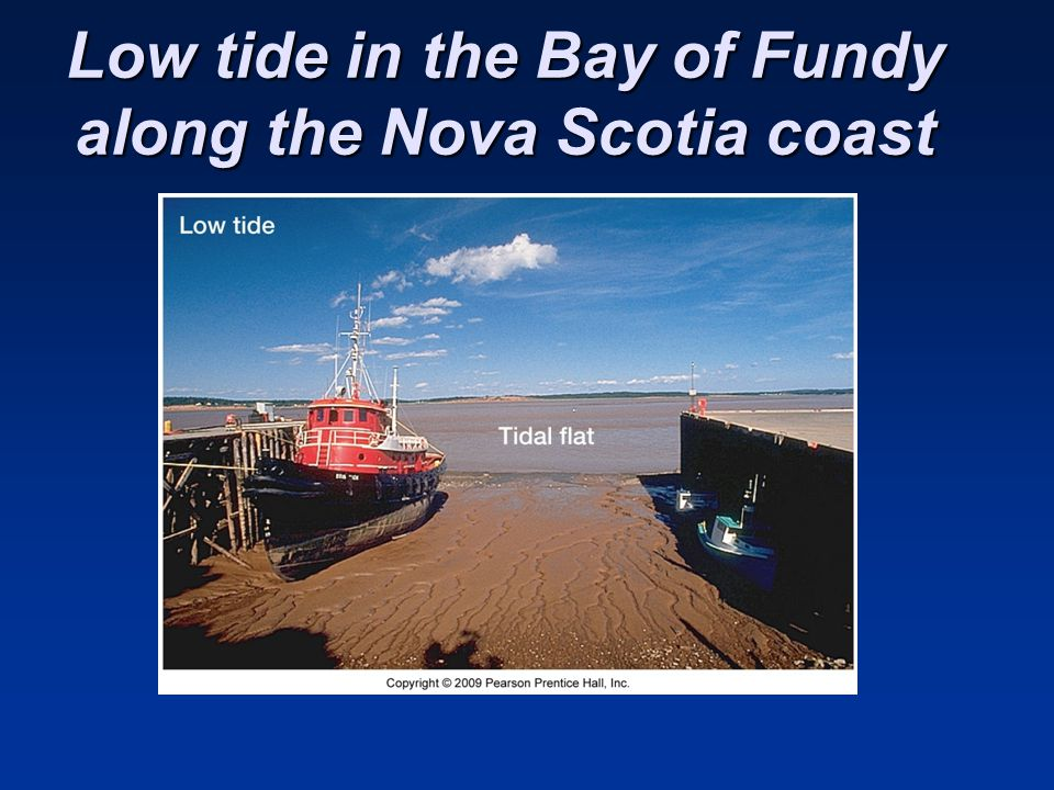 Low tide in the Bay of Fundy along the Nova Scotia coast