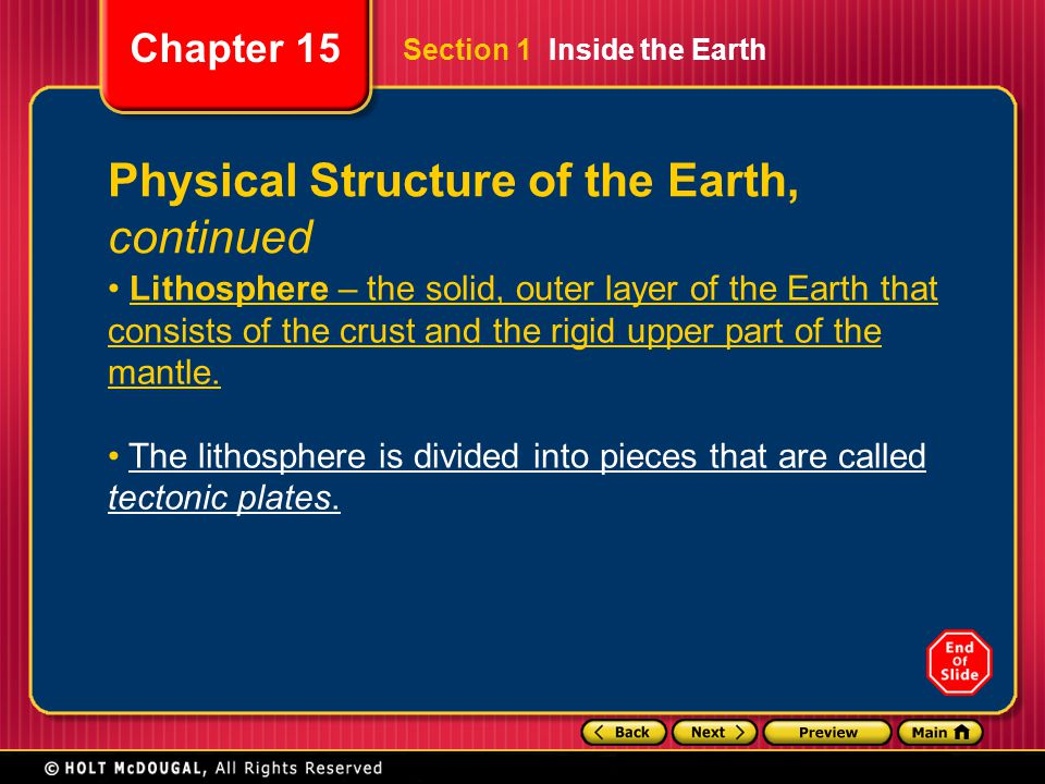 Physical Structure of the Earth, continued
