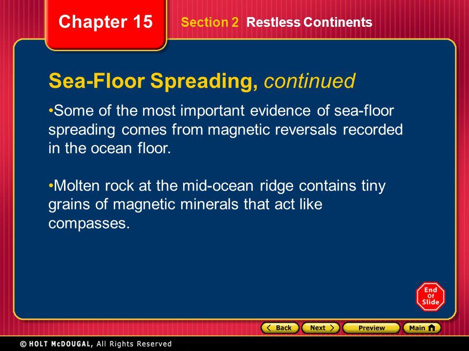 Sea-Floor Spreading, continued