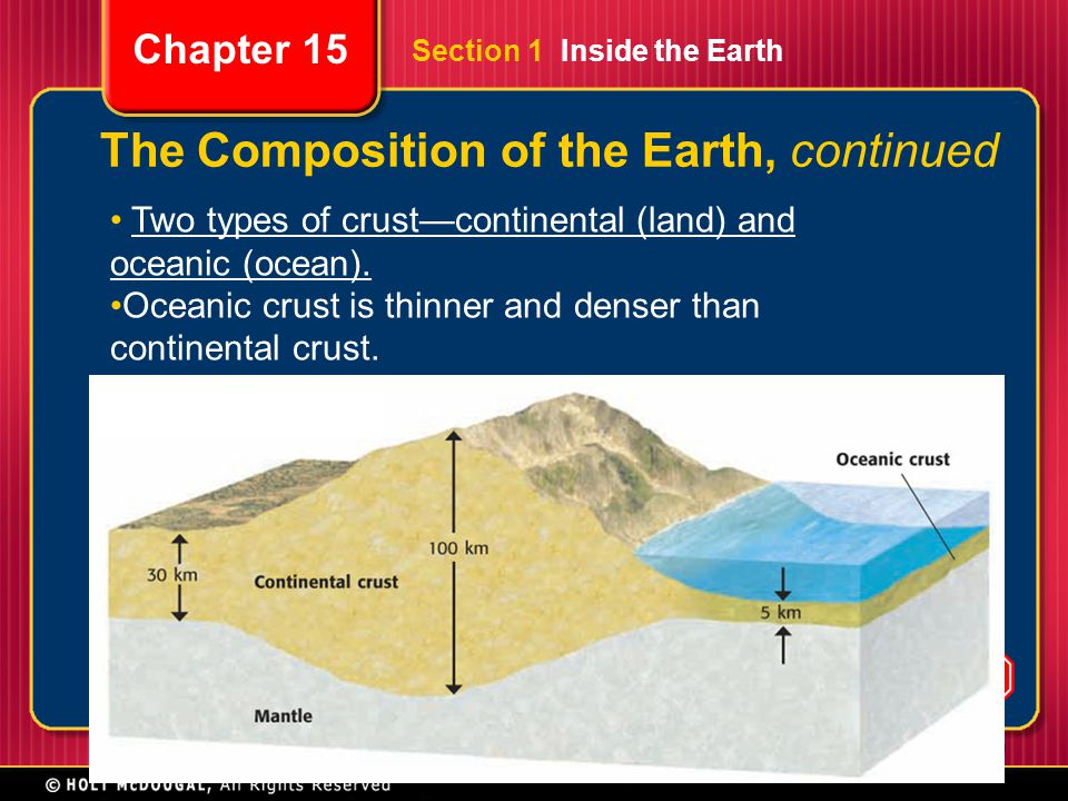 The Composition of the Earth, continued