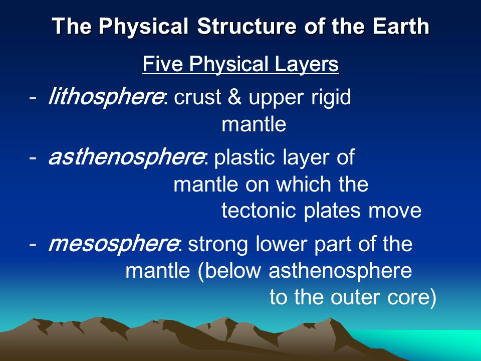 The Physical Structure of the Earth