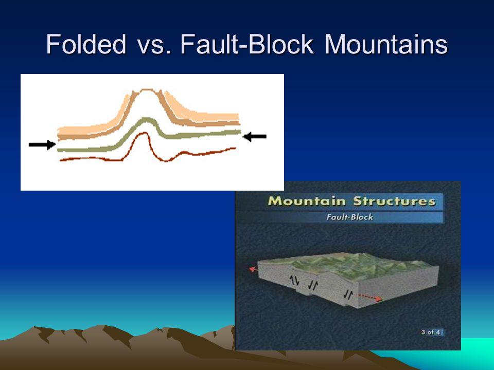 Folded vs. Fault-Block Mountains