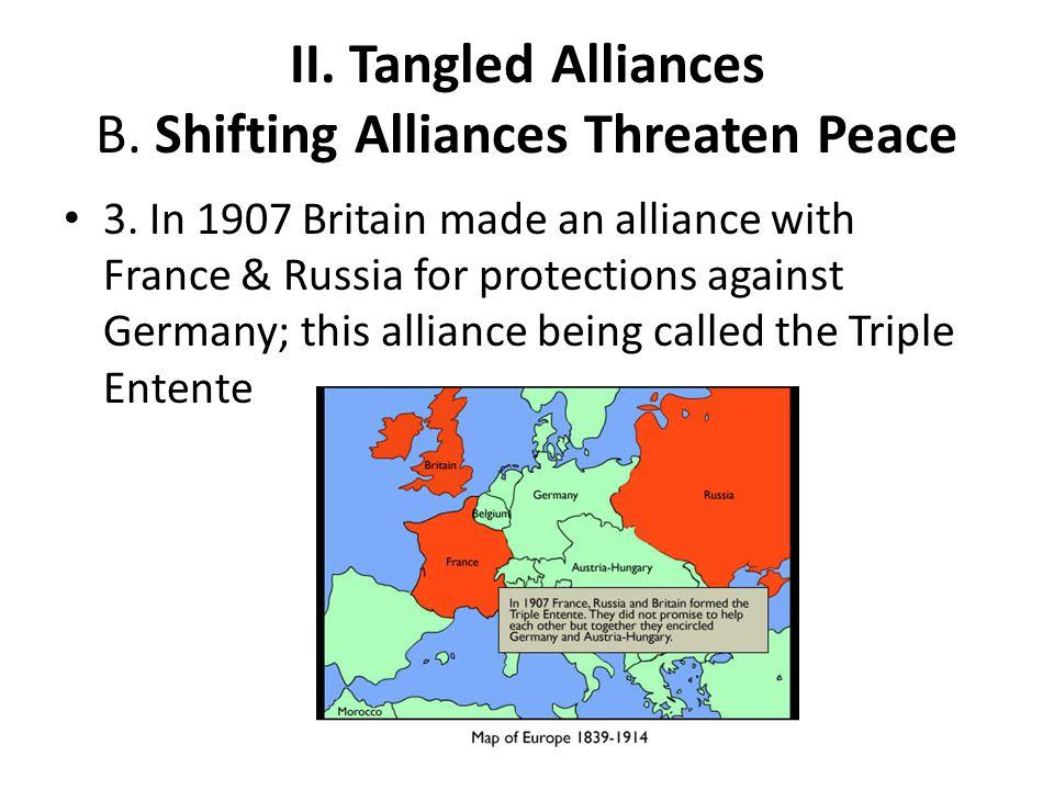 II. Tangled Alliances B. Shifting Alliances Threaten Peace