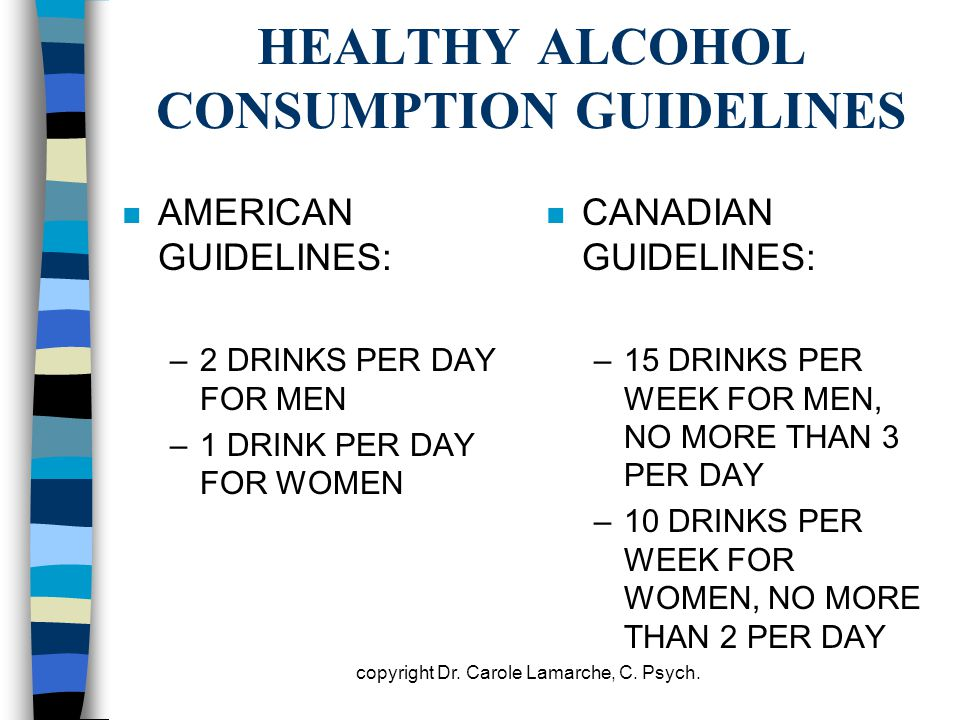 HEALTHY ALCOHOL CONSUMPTION GUIDELINES