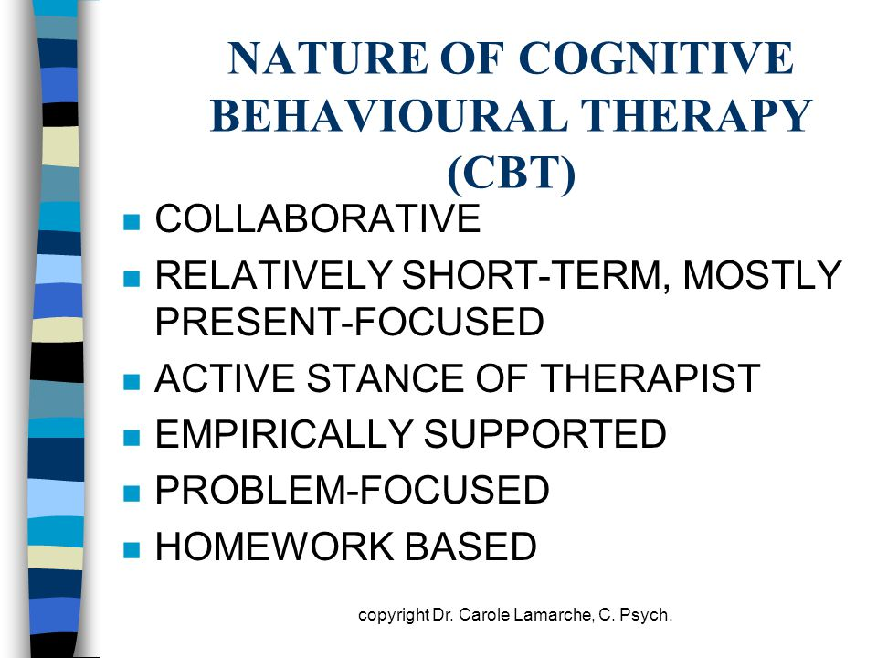 NATURE OF COGNITIVE BEHAVIOURAL THERAPY (CBT)