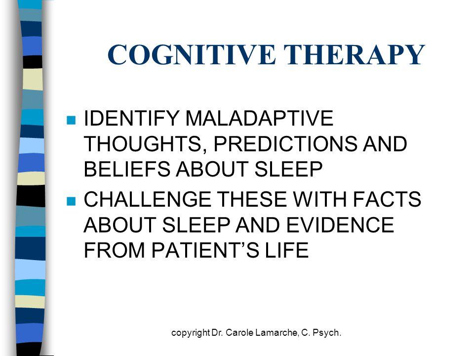 copyright Dr. Carole Lamarche, C. Psych.