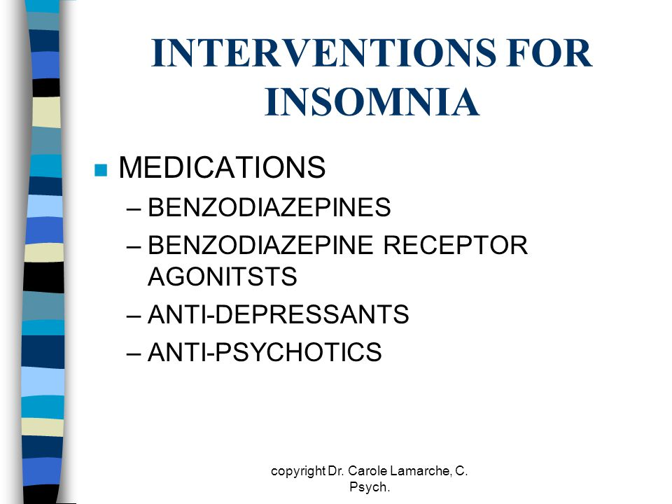 INTERVENTIONS FOR INSOMNIA