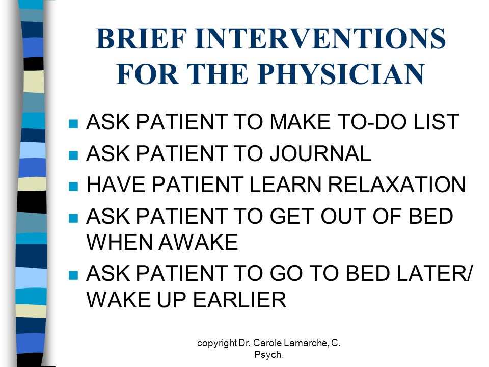 BRIEF INTERVENTIONS FOR THE PHYSICIAN