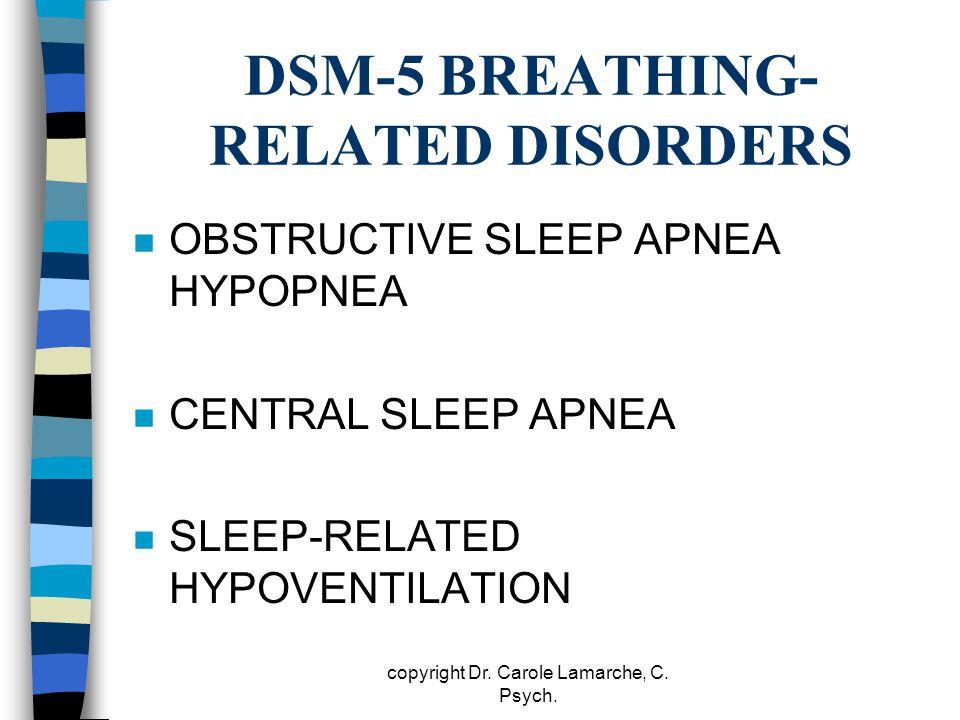 DSM-5 BREATHING-RELATED DISORDERS