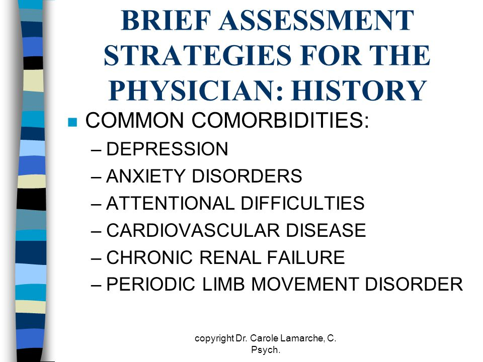 BRIEF ASSESSMENT STRATEGIES FOR THE PHYSICIAN: HISTORY