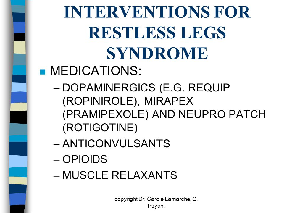 INTERVENTIONS FOR RESTLESS LEGS SYNDROME
