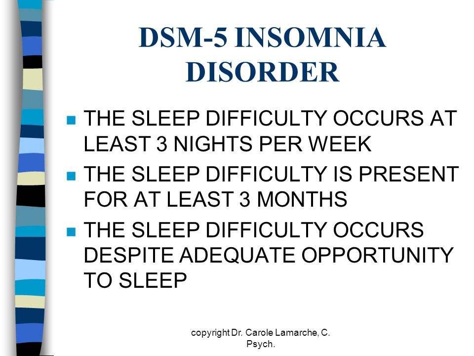 DSM-5 INSOMNIA DISORDER