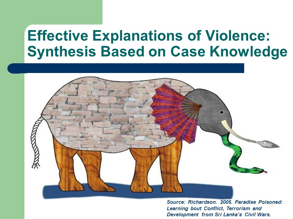 Effective Explanations of Violence: Synthesis Based on Case Knowledge