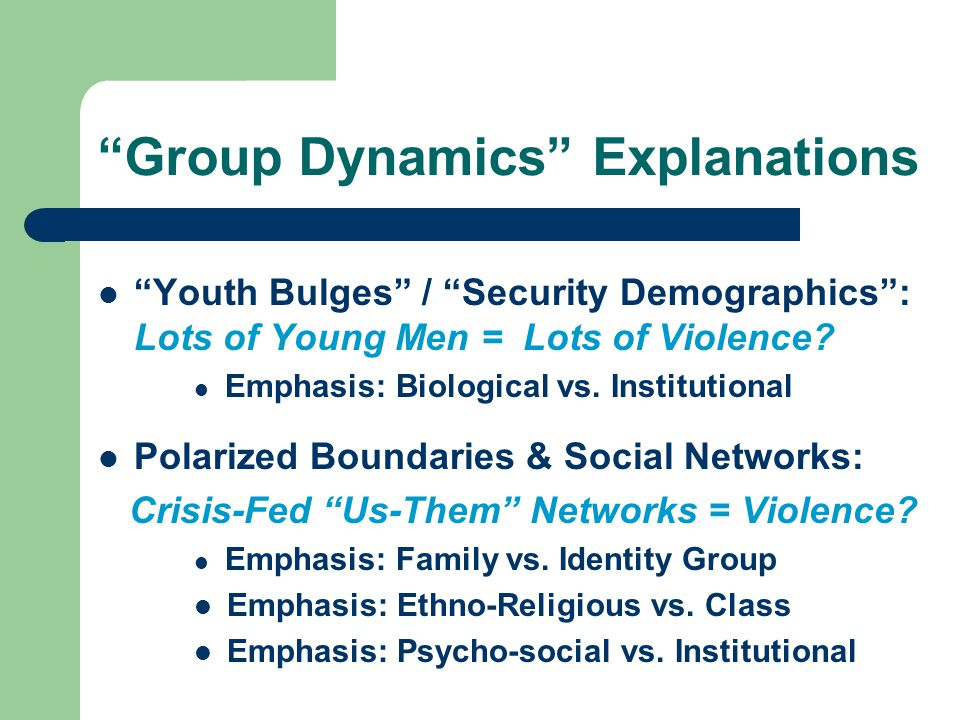 Group Dynamics Explanations