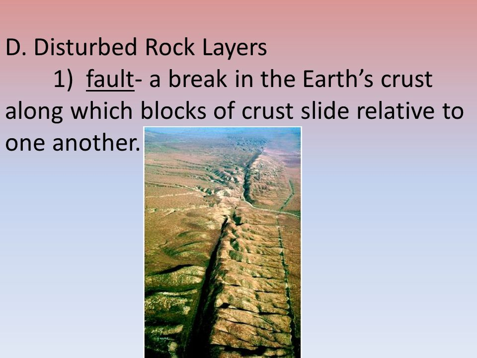 D. Disturbed Rock Layers