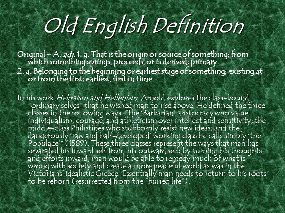 Old English Definition