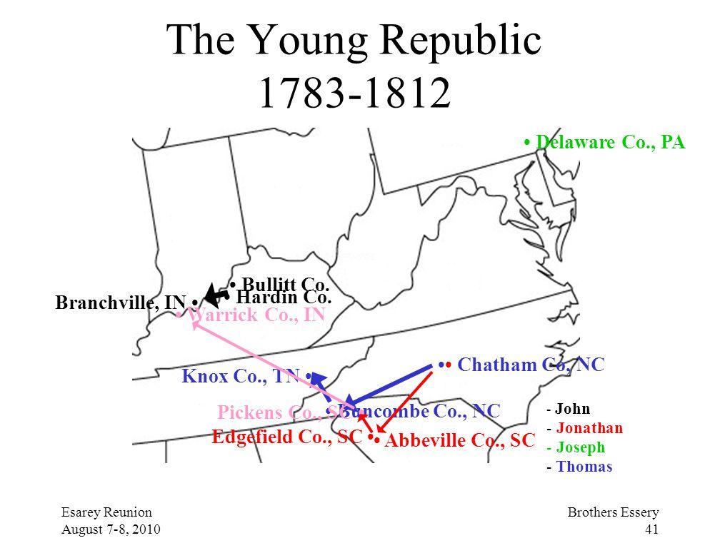 The Young Republic 1783-1812 • Delaware Co., PA • Bullitt Co.