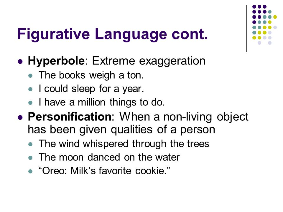 Figurative Language cont.