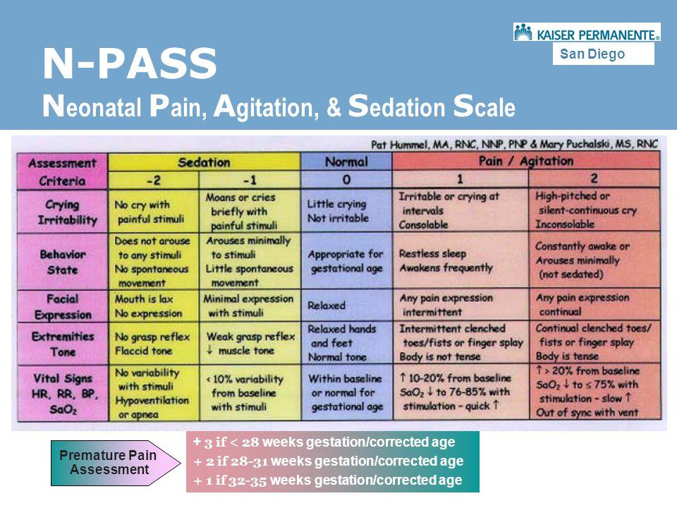 N-PASS Neonatal Pain, Agitation, & Sedation Scale