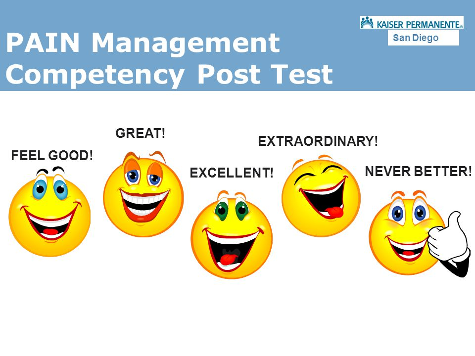PAIN Management Competency Post Test