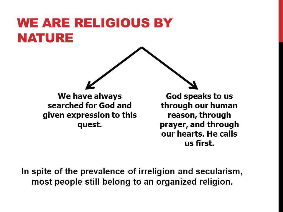 We Are Religious by Nature