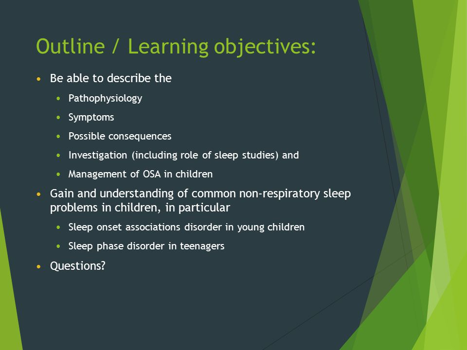 Outline / Learning objectives: