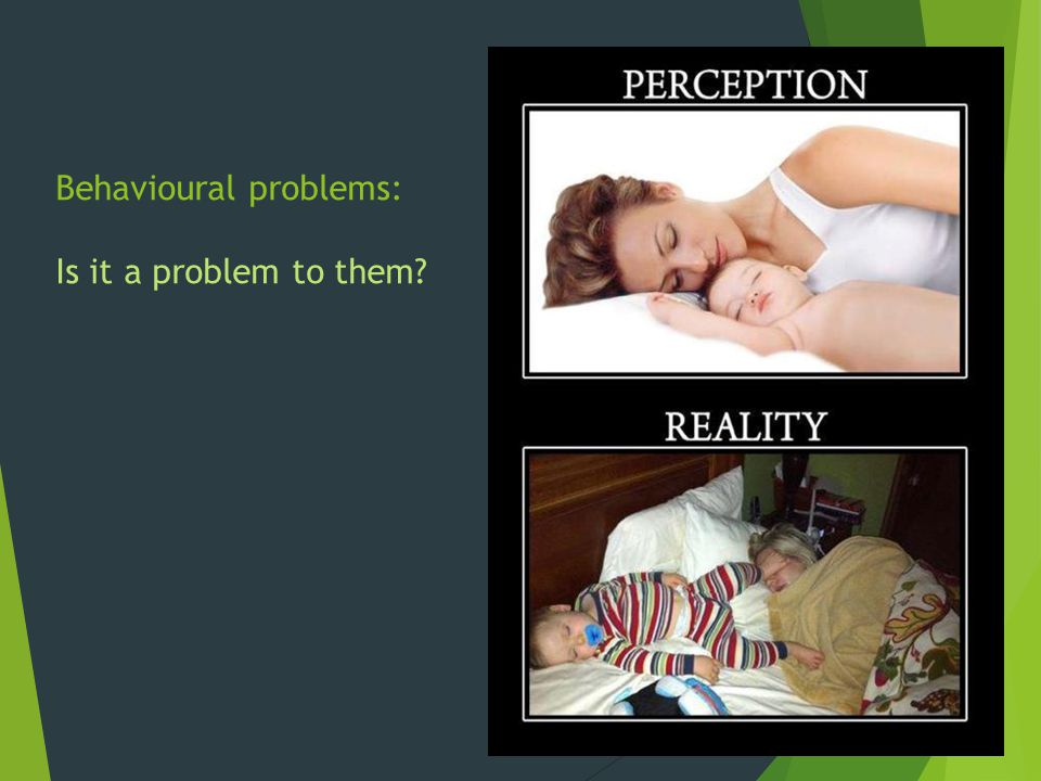 Behavioural problems: Is it a problem to them