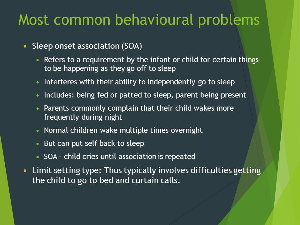Most common behavioural problems