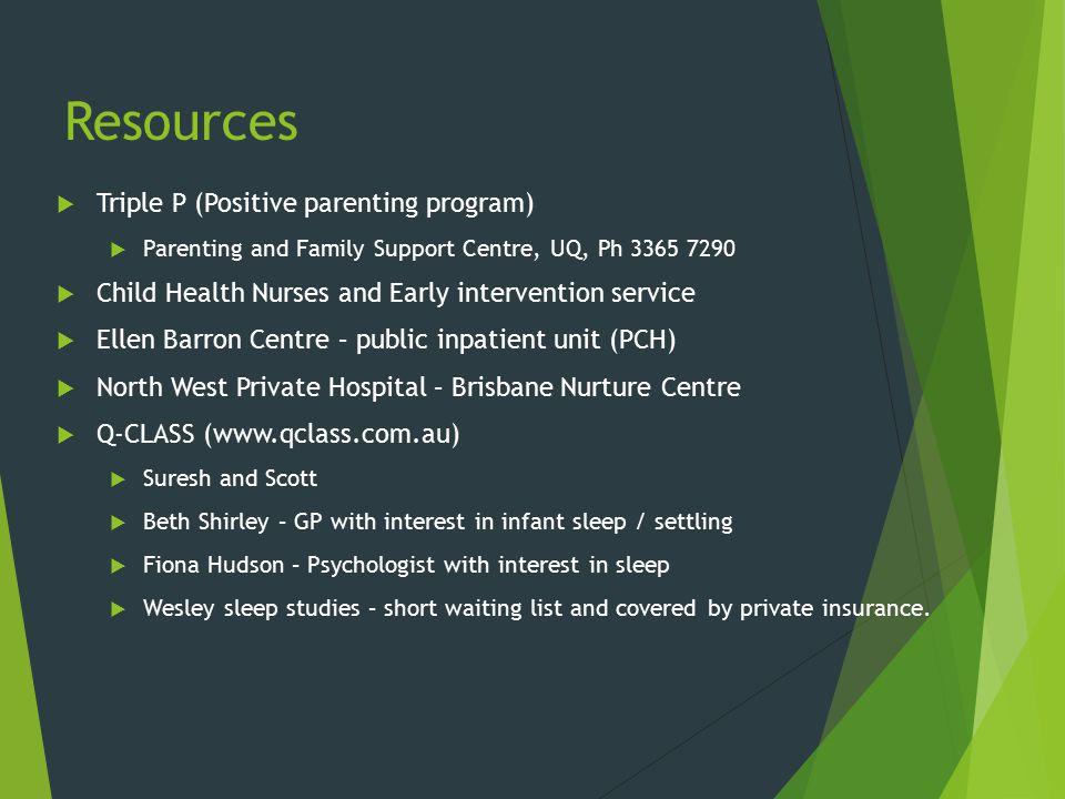 Resources Triple P (Positive parenting program)