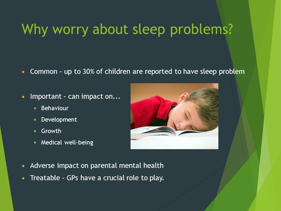 Why worry about sleep problems
