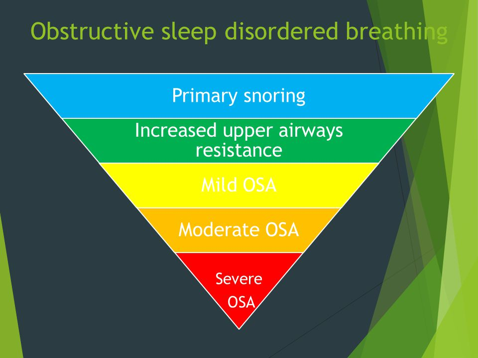 Obstructive sleep disordered breathing